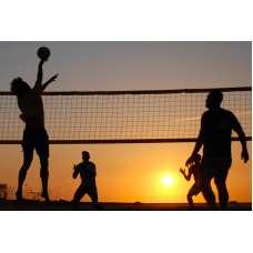 Мужская и женская сетка для волейбола (1м×9,5м) стропа с 4-х сторон
