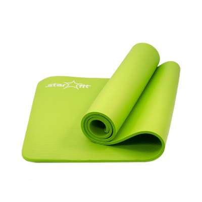 Коврик для йоги fm-301 nbr 183x58x1,0 см, зеленый