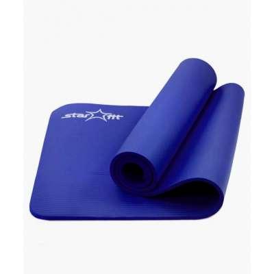 Коврик для йоги fm-301 nbr 183x58x1,2 см, синий