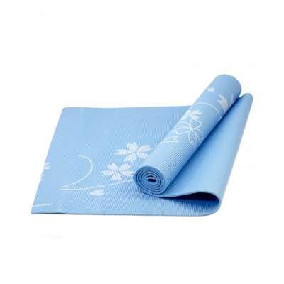 Коврик для йоги fm-102 pvc 173x61x0,5 см, с рисунком, синий