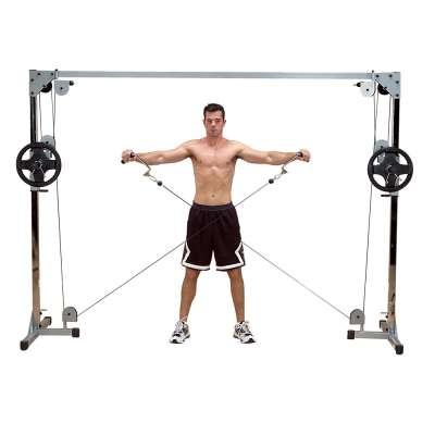 Силовой тренажер кроссовер body solid gcco112 на свободных весах