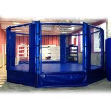 МС Восьмиугольный ринг, высотка сетки 1.83 м. Диаметр 5 м на помосте высотой 0.5 м