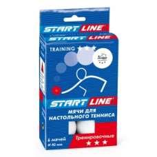 Training 3*, 6 мячей в упаковке, белые