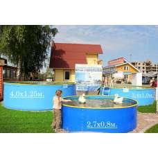 """Бортовой каркасный бассейн """"титикака"""" 2.7х0.8 м"""