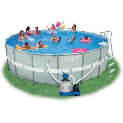 Каркасный усиленный  бассейн Ultra Frame 28322 (круг) 4.88 x 1.22 м, полный комплект