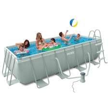 Каркасный бассейн INTEX Ultra Frame 26788 (прямоугольный) 4,00х2,00х1,00м, насос-фильтр, лестница