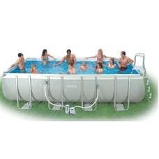 Каркасный бассейн INTEX Ultra Frame 28352 (прямоугольный) 5,49х2,74х1,32м, полный комплект