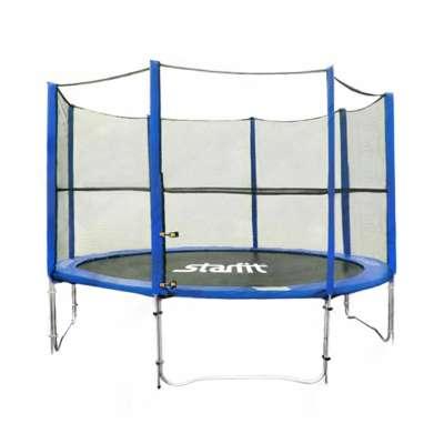 Батут c сеткой starfit tr-201 244 см (8 ft), синий