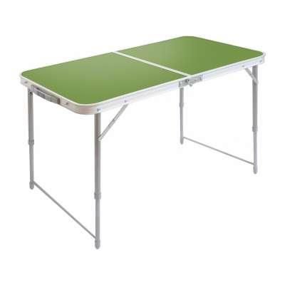 Стол складной(пластик) зеленый (1000*500 мм) (сст)