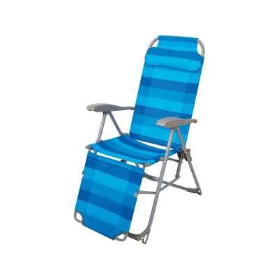 Кресло-шезлонг складное 3 синий (к3)