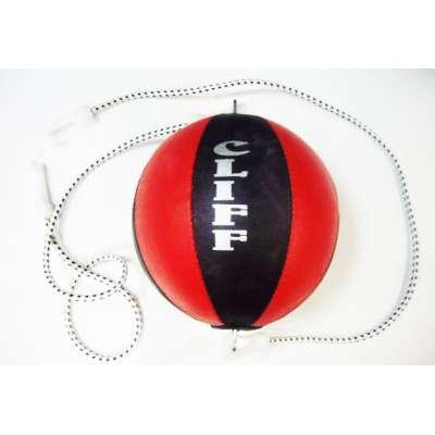 Груша боксерская надувная двухсторонняя кожа с резинкой