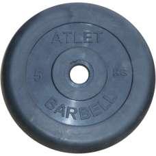 Диск обрезиненный atlet 26 мм 5 кг