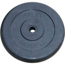 Диск обрезиненный atlet 26 мм 10 кг