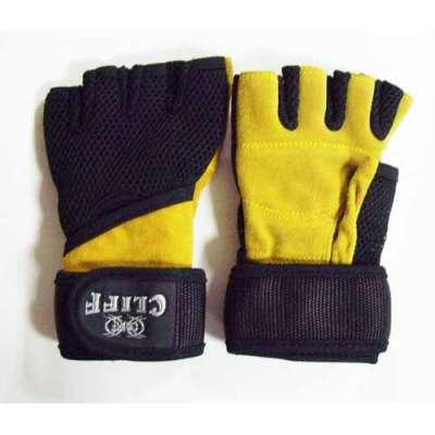 Перчатки тяжелоатлета замша-mesh cf-012