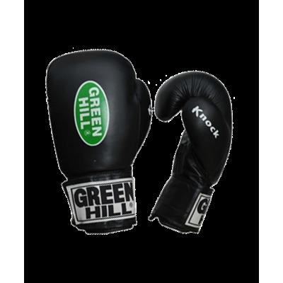 Перчатки боксерские KNOCK KBK-2105, 10oz, кожа, черный