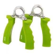 Эспандер кистевой пружинный ES-301, пара, жесткая ручка, зеленый STARFIT