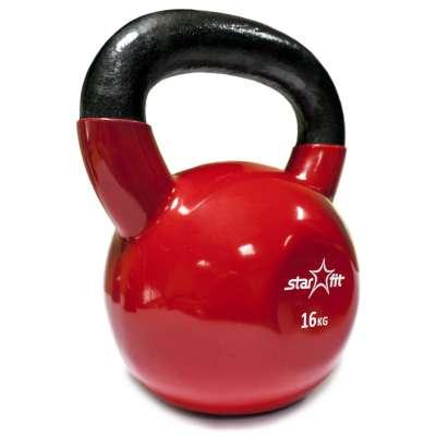 Гиря виниловая DB-401 16 кг, красная