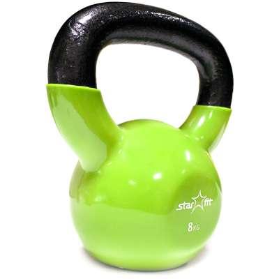 Гиря виниловая DB-401 8 кг, зеленая