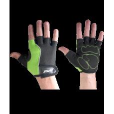 Перчатки для фитнеса SU-108, зеленые/черные STARFIT