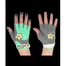 Перчатки для фитнеса SU-112, серые/мятные/желтые STARFIT