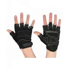 Перчатки для фитнеса SU-116, черные/серые STARFIT