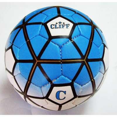 Мяч футбольный cliff бело-синий