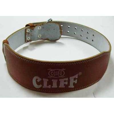 Пояс тяжелоатлета коричневый кожа CLIFF  lb 4
