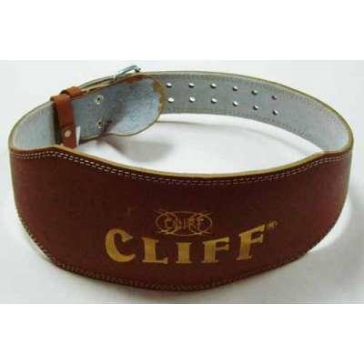 Пояс тяжелоатлета коричневый кожа CLIFF lb 6