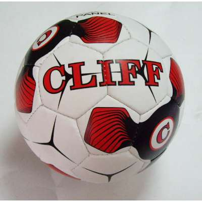 Мяч футбольный cliff бело-красно-черный