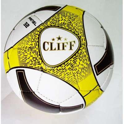 Мяч футбольный cliff бело-желто-черный