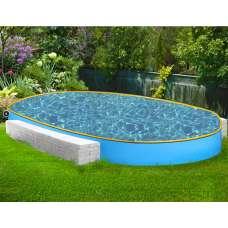 """Овальный каркасный бассейн """"Онега"""" 4.8х2.4х1.5 м"""
