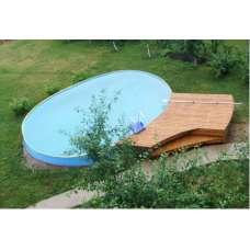 """Овальный каркасный бассейн """"ладога"""" 4.8х2.4х1.25 м"""