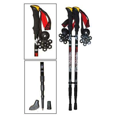Палки телескопические для скандинавской ходьбы и трекинга «trek-hot»