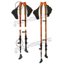 Карбоновые телескопические палки для скандинавской ходьбы «carbonmini-orange»