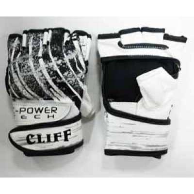 Перчатки мма черно-белые 6038