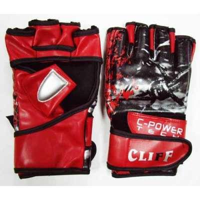 Перчатки мма черно-красные 6033