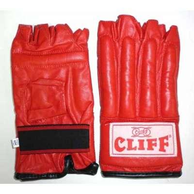 Перчатки - шингарды кожа красные