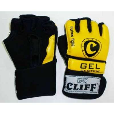 Перчатки мма желто-черные 6031