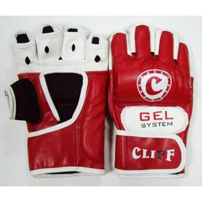 Перчатки мма красно-белые 6030