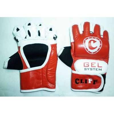 Перчатки мма красно-белые кожа uli-6030
