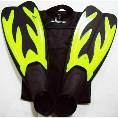 Ласты для плавания YF 32-34 желтые (3XS)