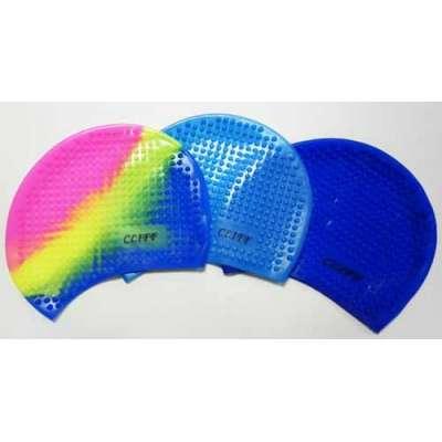 Шапочка для плавания силиконовая большая PP (с шипами)