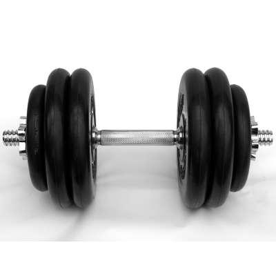Гантель 27,5 кг разборная с обрезиненными дисками atlet mb-barbell