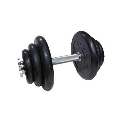 Гантель 20 кг разборная с обрезиненными дисками atlet mb-barbell
