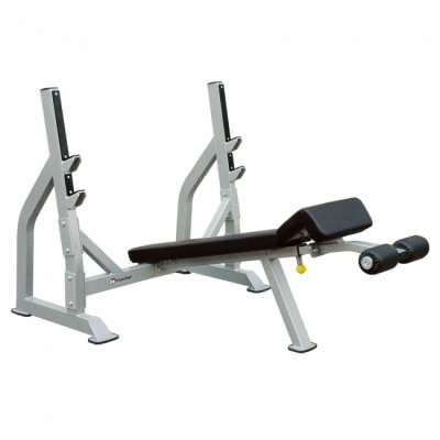 Олимпийская скамья для жима с отрицательным наклоном aerofit ifodb