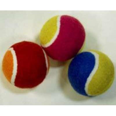 Мяч большого тенниса цветные (упак. 3 шт.)
