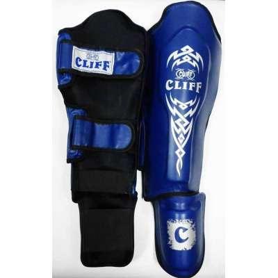 Защита голень-стопа (материал dx) синяя