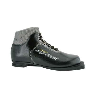Ботинки лыжные NN75 Cross 35, кожа, черные