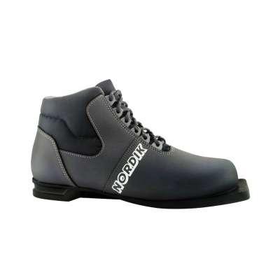 Ботинки лыжные NNN Loss 243/7, синт. кожа, серые