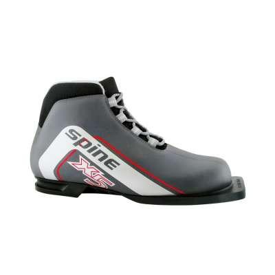 Ботинки лыжные NN75 X5 180, синт. кожа, серые